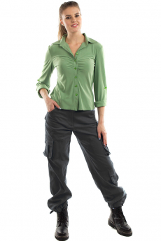 Серые женские брюки карго Bast