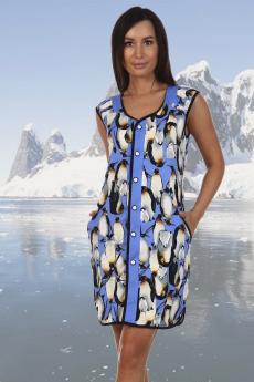 Халат с пингвинами Натали