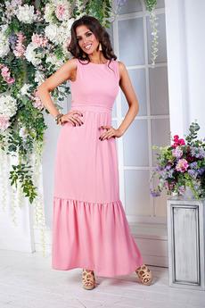 Длинное розовое платье Angela Ricci
