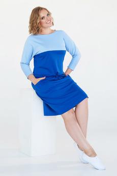 Синее платье с голубой полосой Angela Ricci
