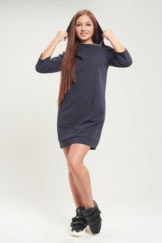 Платье в спортивном стиле с капюшоном Трикотажница