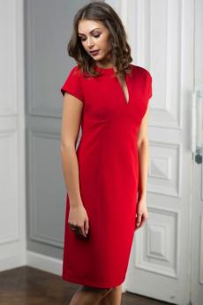 Красное платье с вырезом Look Russian